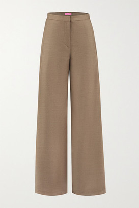 GAUGE81 Colima Wool And Cashmere-blend Wide-leg Pants - Sand