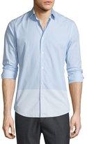 Vince Melrose Engineered-Stripe Sport Shirt, Light Blue