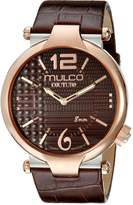 Mulco Men's MW5-3183-033 Couture Slim Analog Display Swiss Quartz Watch