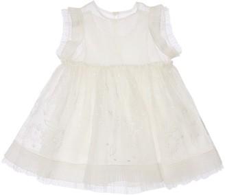 Stella McCartney Kids Silk & Tulle Dress W/ Diaper Cover