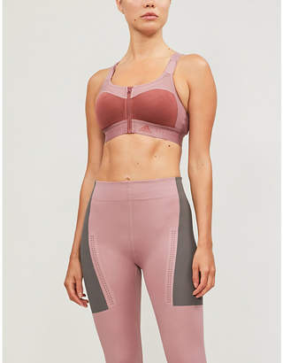 adidas by Stella McCartney Scoop-neck recycled-polyester mastectomy bra