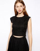Warehouse Houndstooth Top