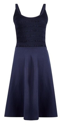 Dorothy Perkins Womens **Tall Navy Shirred Camisole Cotton Dress