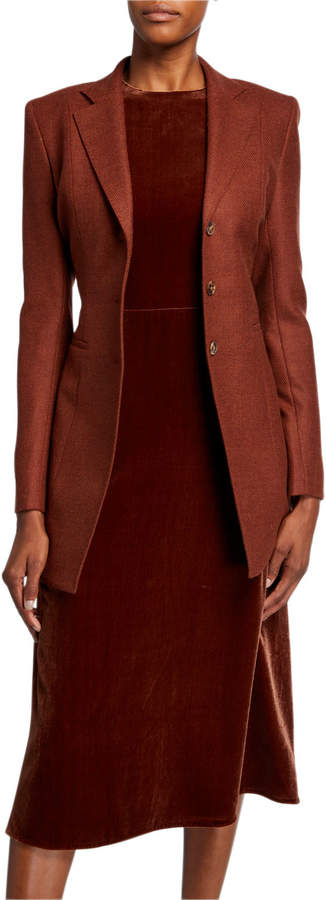 Lafayette 148 New York Melange Cloth Three-Button Blazer