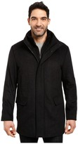 Calvin Klein Wool Stadium Jacket in Small Herringbone Men's Coat