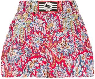 Etro floral paisley print shorts