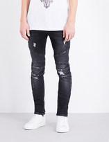 Balmain Biker distressed slim-fit skinny jeans