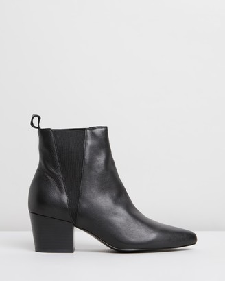 Siren Puzzle Leather Ankle Boots