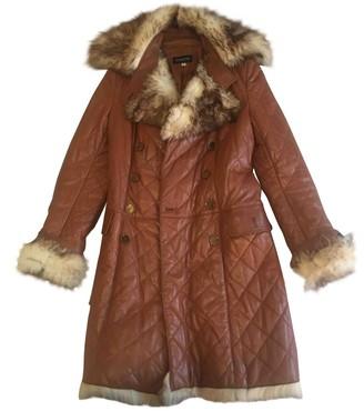 Patrizia Pepe Camel Leather Leather Jacket for Women