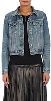Barneys New York Women's Distressed Denim Jacket-BLUE