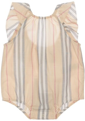 Burberry Striped Cotton Muslin Bodysuit