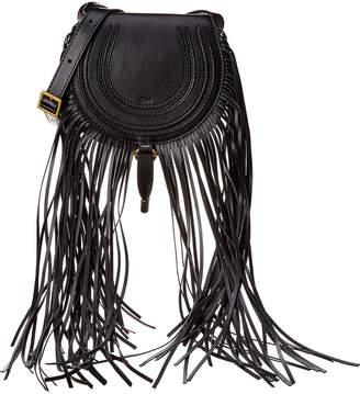 Chloé Marcie Mini Fringe Leather Shoulder Bag