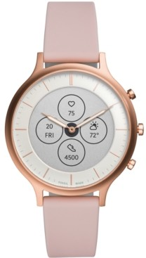 Fossil Tech Charter Pink Leather Strap Hybrid Smart Watch 42mm
