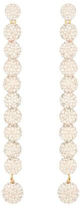 Lele Sadoughi Caterpillar crystal-embellished earrings