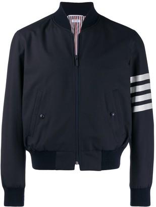 Thom Browne Stripe Detail Bomber Jacket
