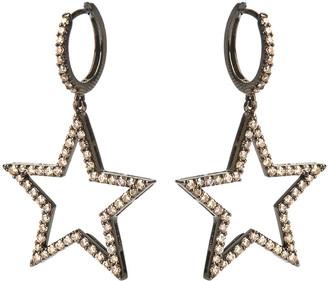 Rosa De La Cruz 25mm Diamond Star Earrings Pair