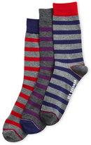 Ben Sherman 3-Pack Grey Stripe Socks