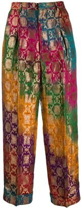 Romeo Gigli Pre-Owned 1990's Gradient Jacquard Trousers