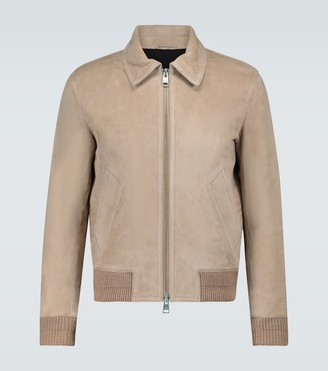 Ami Suede zipped jacket