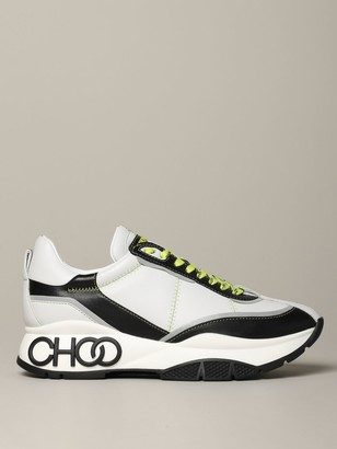 Jimmy Choo Raine M Zag Sneakers In Bicolor Leather