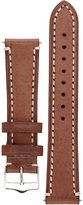 Signature Father watch band. Replacement watch strap. Genuine Leather. Silver buckle