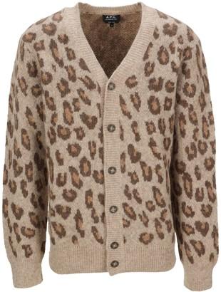 A.P.C. Leopard Cardigan