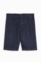 120% Lino Classic Check Linen Shorts