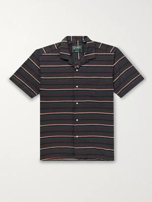 Gitman Brothers Camp-Collar Striped Cotton Shirt