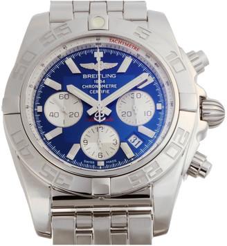 Breitling Blue Stainless Steel Chronomat B01 Chronograph Automatic Chronometer AB011012 Men's Wristwatch 44 MM