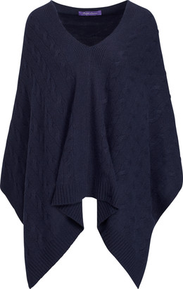 Ralph Lauren Cable Cashmere Poncho Scarf