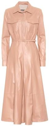 ZEYNEP ARCAY Leather midi dress