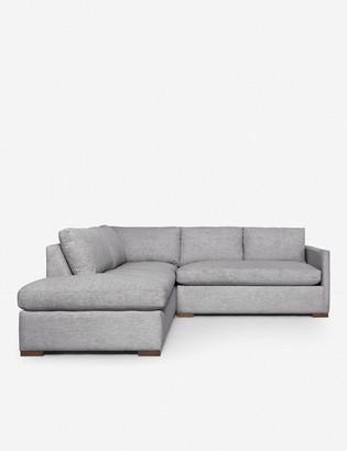 Lulu & Georgia Callahan Left-Facing Bumper Sectional Sofa, Light Gray