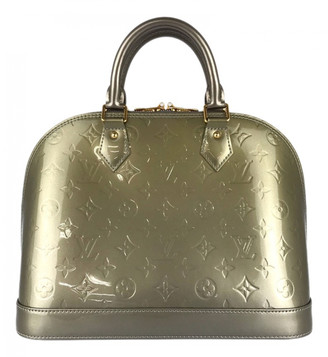 Louis Vuitton Alma BB Khaki Patent leather Handbags