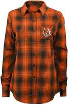 Juniors' Cincinnati Bengals Dream Plaid Shirt