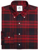 Brooks Brothers Navy and Red Plaid Button-Down Shirt