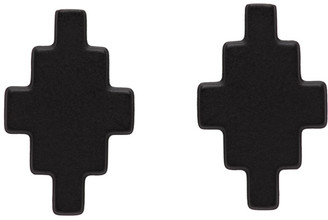 Marcelo Burlon County of Milan Black Cross Stud Earrings