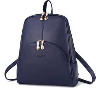 Nevenka Brand Women Bags Backpack Purse PU Leather Zipper Bags Casual Backpacks Shoulder Bags (Shaded Spruce)
