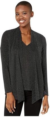 Calvin Klein Metallic Faux Fly Away (Black/Silver) Women's T Shirt