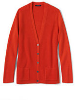 Classic Women's Tall Cotton Shaker Cardigan Sweater-Zesty Orange