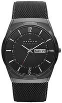 "Skagen Men's SKW6006 ""Melbye"" Black Titanium Watch with Mesh Band"