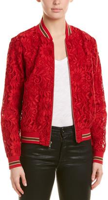 Lavender Brown Lace Jacket