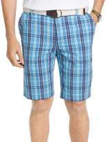 Izod Men's Flat Front Yard Colored Large Plaid Shorts
