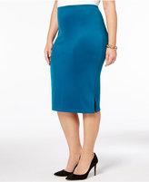Kasper Plus Size Pull-On Pencil Skirt