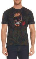 Robert Graham Skull Rose-Graphic Paisley-Print T-Shirt
