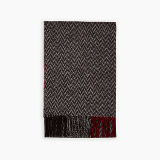 Roots Tricoloured Plaid Scarf