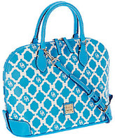 Dooney & Bourke As Is Sanibel Coated Canvas Zip Zip Satchel