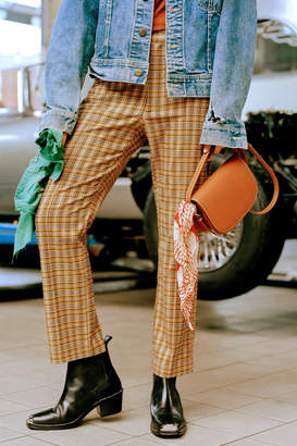 Urban Outfitters Mensy Plaid Straight Leg Trouser Pant