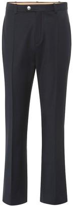 Chloé High-rise straight wool-blend pants