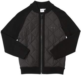 HUGO BOSS Zip-up Cotton & Quilted Nylon Jacket