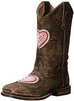Roper Heartbreaker Square Toe Cowgirl Boot (Toddler/Little Kid)